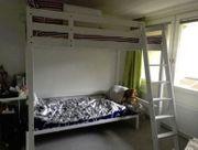 IKEA Stora Hochbettgestell mit Matratze -