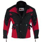 Textil Motorradjacke Rot Schwarz