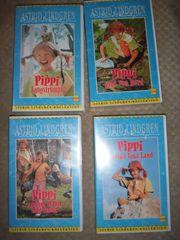 4 VHS Videos Pippi Langstrumpf