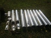 Edelstahlrohrsatz 130 mm für Kamineinsatz