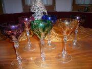 Gläser buntes Kristall Wein und