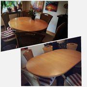 Hochwertiger ausziehbarer Esstisch mit 6