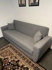 Schlafcouch Couch Sofa grau