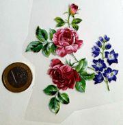 Textile Aufkleber klein Blumen noh