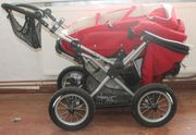 Roter Hoca Big Foot Kombi-Kinderwagen