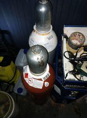 2 x 20 Liter Schweiß-Gasflaschen