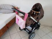 Kinderwagen mit 2 Autoschalen