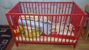 IKEA Hermelin Kinderbett rot mit