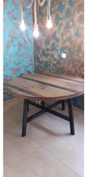 Esstisch rund aus Pinienholz