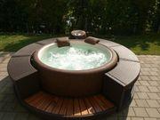 Whirlpool Softub Whirlpool Resort Rattanumrandung