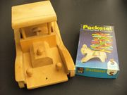 Holz-Spielzeug Packesel-Geschicklichkeits-Spiel und Pixi-Bücher