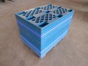 1 Stapel 17Stück Paletten Kunststoffpaletten