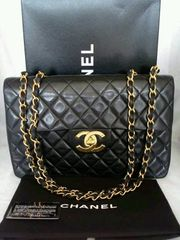 Chanel 2 55 flapbag Black