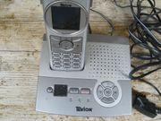 Tevion-Schnurlostelefon mit AB Akku und