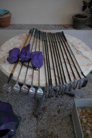Verkaufe Golf-Ausrüstung mit Eisen Hölzern