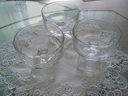 8 Dessert-Schalen aus Glas standfeste