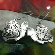 Ohrhaken Schildkröte Silber