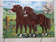 Puzzle Junior Flokati Line Pferde