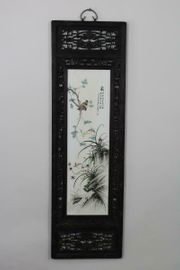 Porzellan Kunst Gemälde Holz Blume