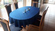 Ausziehbarer Esstisch inklusive 6 Stühle