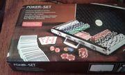 Poker set spiel original verpack