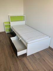FLAXA Kinderbett Jugendbett mit Schubladen