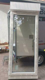 Rehau Kunststoff Balkontür mit Aufsatzkasten