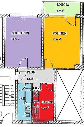 2Zi Whg mit Balkon in: Kleinanzeigen aus Sangerhausen - Rubrik Vermietung 2-Zimmer-Wohnungen