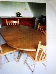 Esstisch ausziehbar und 4 Stühle