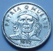 Münze Kuba 3 Pesos 1992