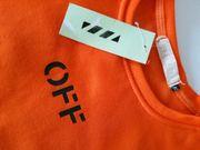 Sweatshirt Off Streetwear knallorange NEU