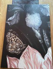 Ikea Leinwand PJÄTTERYD Bild Schmetterling