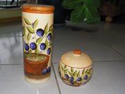Keramik Vorratsbehälter -dosen mit mediterranen