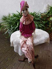 Wunderschöner sehr großer Porzellan-Pierrot