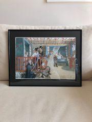 Gerahmter Kunstdruck Carl Larsson - Namenstag