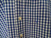 Bayerisches Trachtenhemd Herren blau weiß