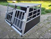 Hundetransportbox Aluminium neuwertig