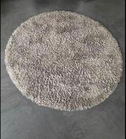 140 cm Rund Shaggy Teppich