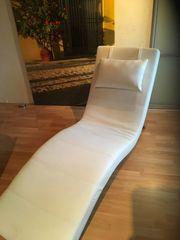 Relax-Liege Leder weiß