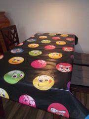 PVC Tischdecke Smileys Kindergeburstag