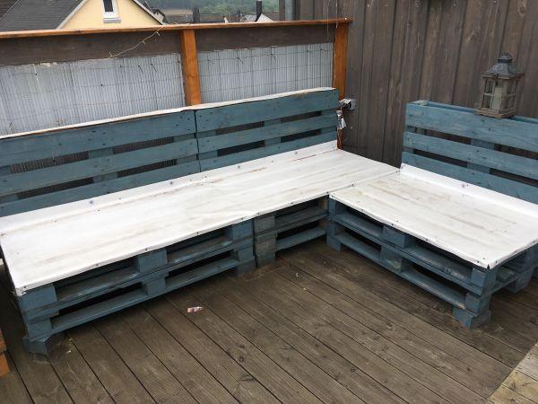 Paletten Lounge Gartenmöbel Sofa Couch in Dürrholz - kaufen und ...