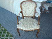 213 Chippendahle Sessel Stoff Vellurs