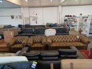Sofa Leder 3 teilig Chesterfield -