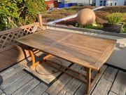 Gartentisch Teakholz mit Stühlen