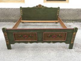 Stilmöbel, Bauernmöbel - Voglauer Landhaus ANNO Bett grün