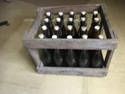 3 x alte Holz Bierkisten