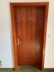 Holztüre mit Zarge 7 Stück