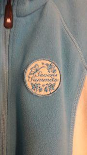 Jugend Damen Outdoor Fleecejacke blau-weiß