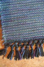 Web-Teppich (blau)