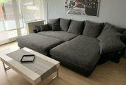 Couch Sofa Wohnlandschaft grau
